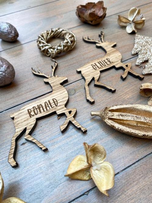 Personalised Reindeer Place Name