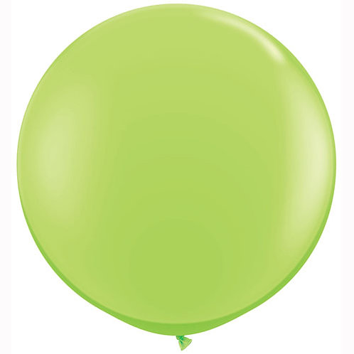 Giant Lime Balloon & Tassel Tail