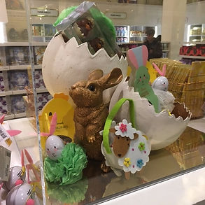 Easter poms for Harrods