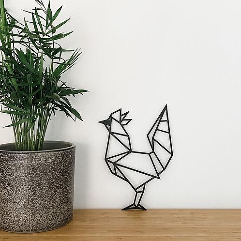 Geometric Chicken Wall Art