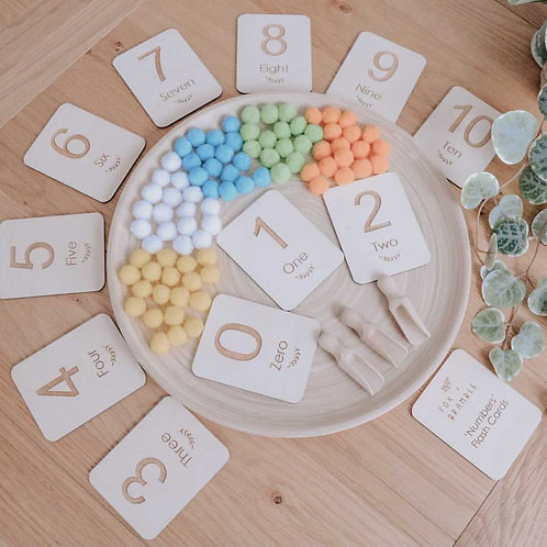 'Numbers' Wooden Flashcards