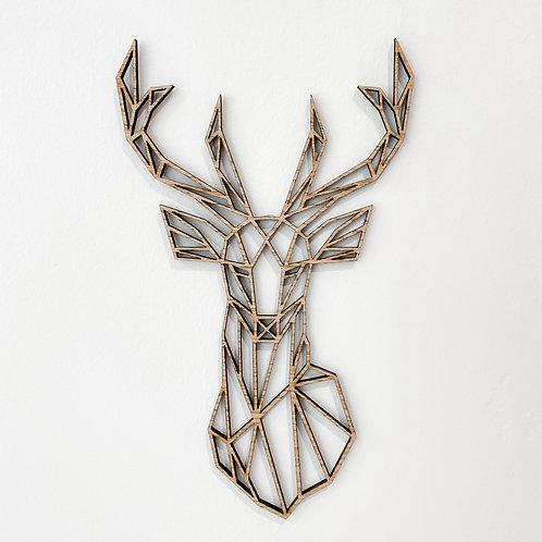 Geometric Deer Wall Art