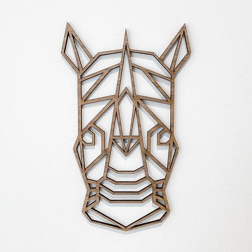 Geometric Rhino Wall Art