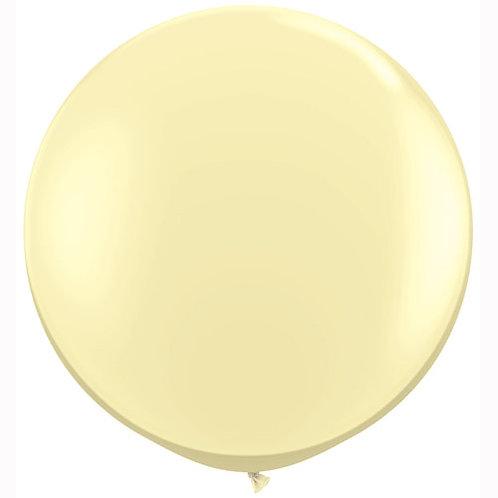 Giant Ivory Balloon & Tassel Tail