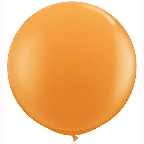 Giant Orange Balloon & Tassel Tail
