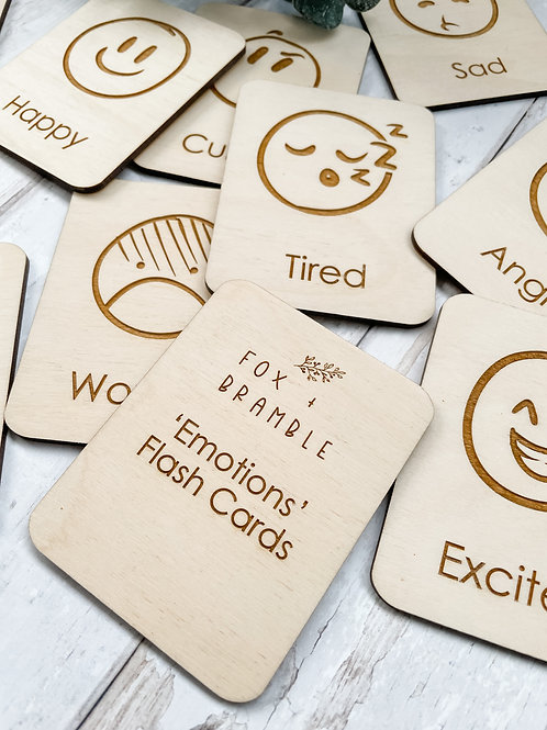 'Emotions' Wooden Flashcards