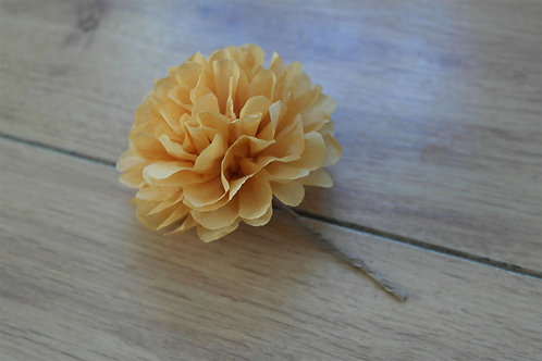 "3"" Paper Flower Buttonhole"