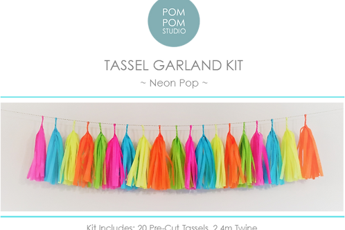 Tassel Garland Kit - Neon Pop