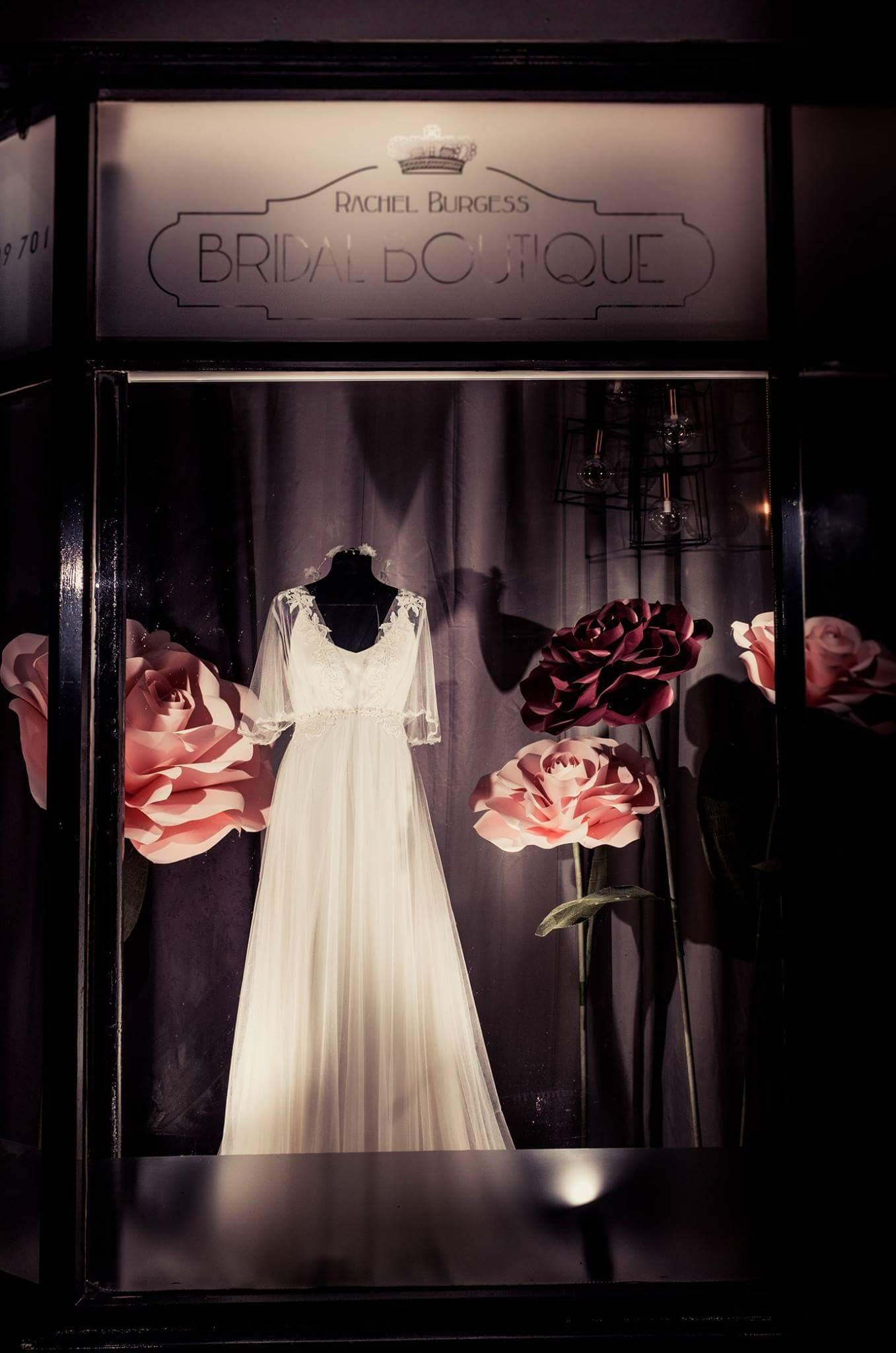 Paper Roses Window Display