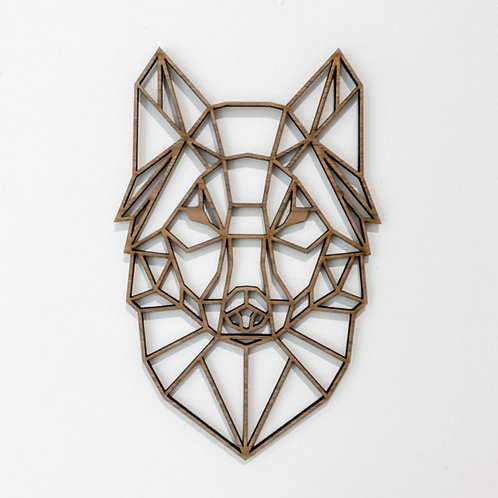 Geometric Wall Art - Wolf