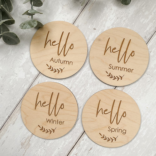 Set of 4 'Hello' Season Discs
