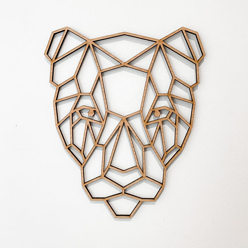Geometric Wall Art - Leopard