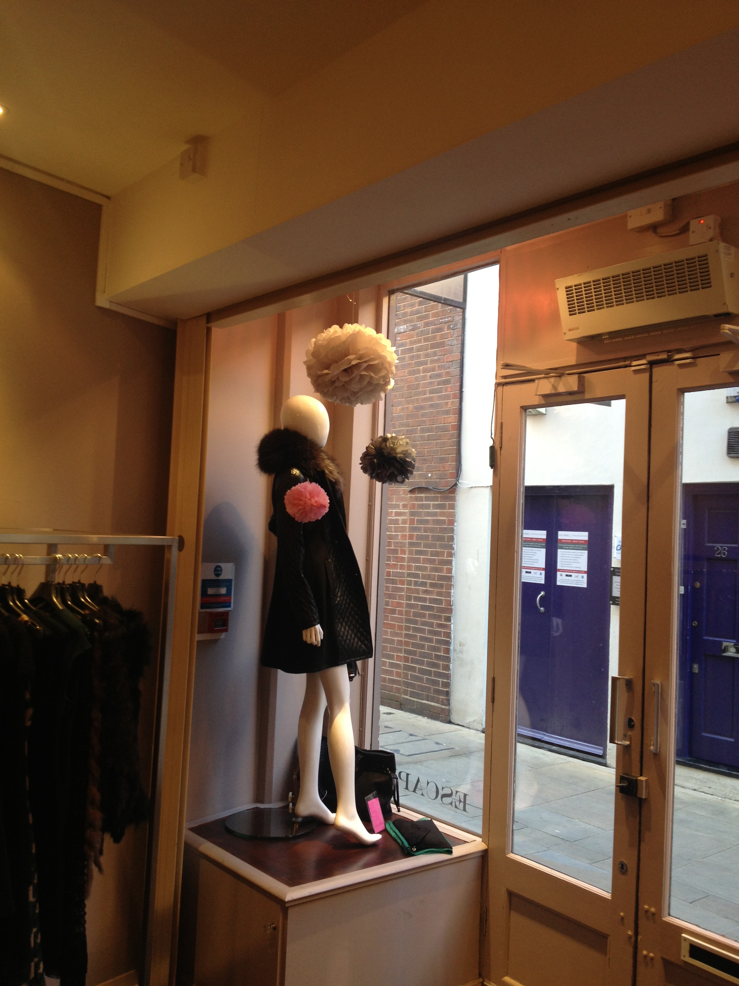 Shop Window Display Poms