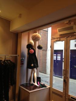 Shop Window Display Poms