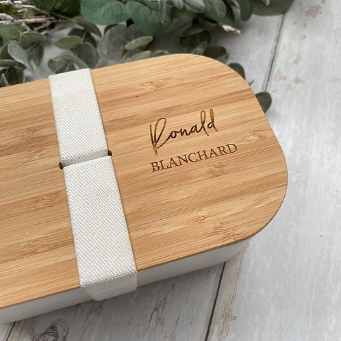 Personalised Eco Bamboo Lunch Box