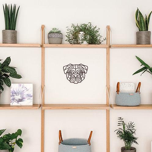 Geometric Pug Wall Art