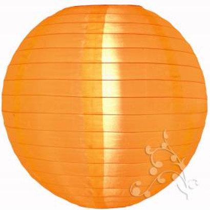 Orange Nylon Hanging Lanterns