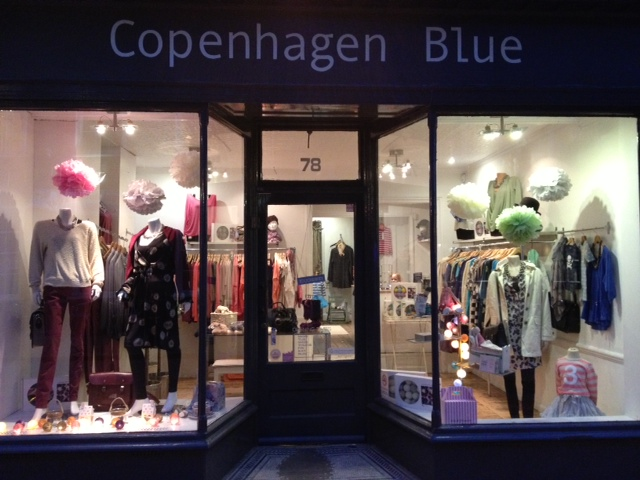 Copanhagen Blue Pom Shop Display