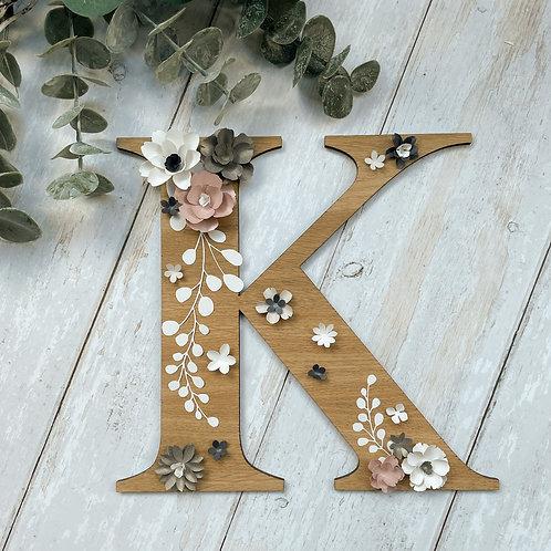 'Paper Florals' - Custom Initial