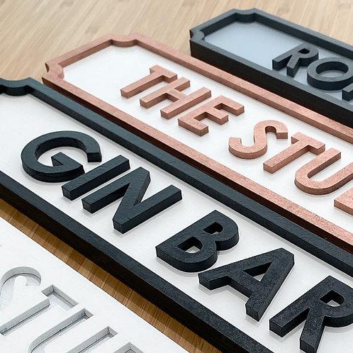 40cm Personalised Vintage Street Sign