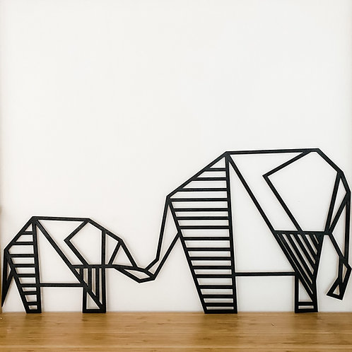 Geometric Elephants Wall Art