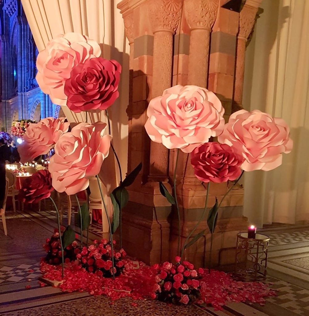 About Our Giant Paper Flowers Freestanding Roses Pom Pom Studi