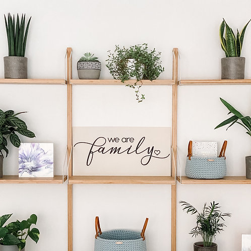 'We are family' Wall Art Panel