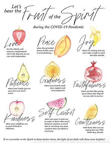COVID19 Fruit of the Spirit Graphic