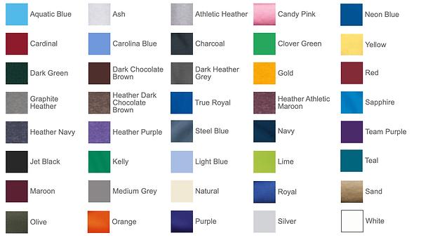 Port& Company Hoodie Colors