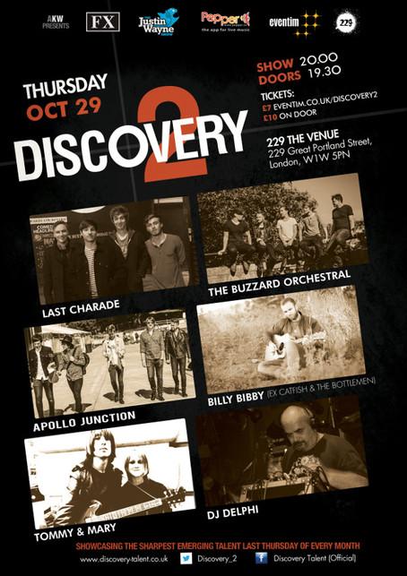 Thur 29th Oct: The Buzzard Orchestral, Apollo Junction, Billy Bibby (ex Catfish & The Bottlemen)