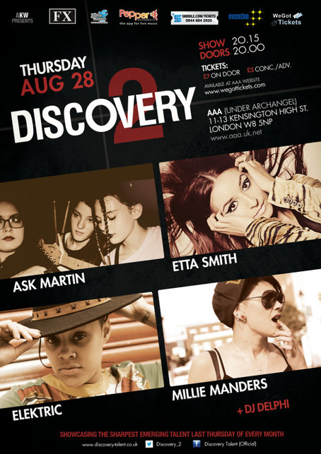 Discovery 2 feat Ask Martin + Etta Smith w/ Band + Elektric + Millie Manders