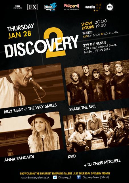 Thur 28th Jan: Billy Bibby & The Wry Smiles, Anna Pancaldi, Spark The Sail,  Keid