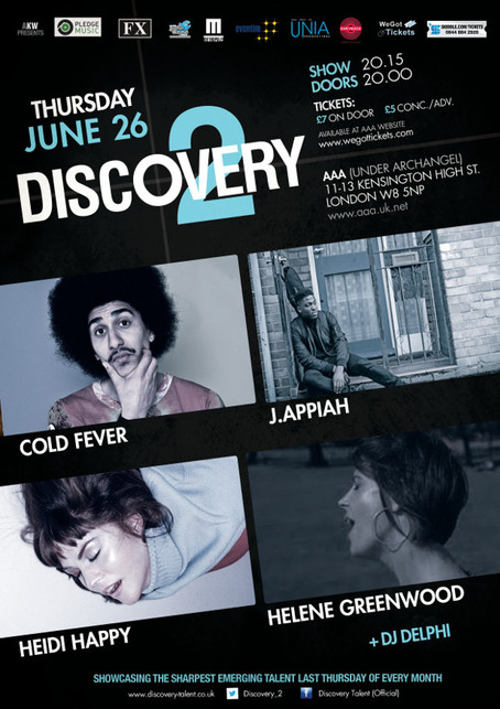 Discovery 2 ft Cold Fever + J.Appiah (Band) + Heidi Happy + Helene Greenwood + Dj Delphi