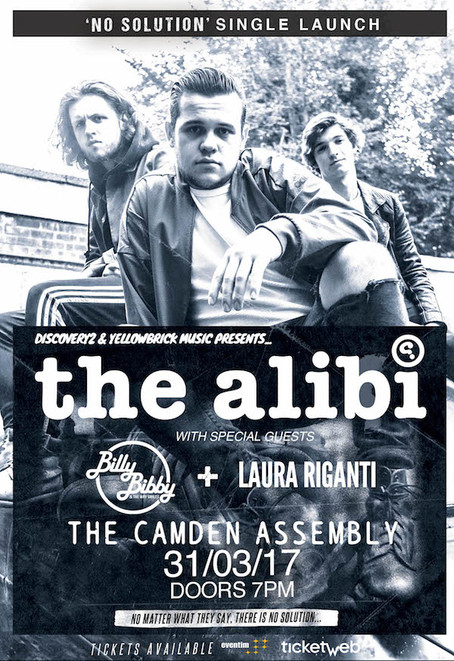 The Alibi take on the Camden Assembly for their debut single release 'No Solution'!