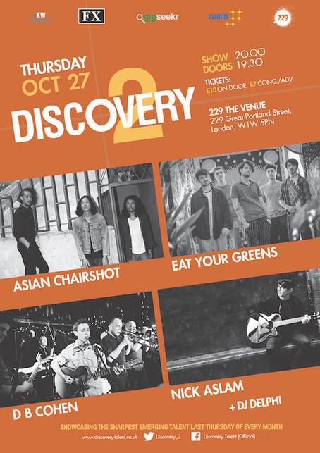 Thur 27th Oct 2016: Asian Chairshot, Nick Aslam, D.B Cohen + Eat Your Greens