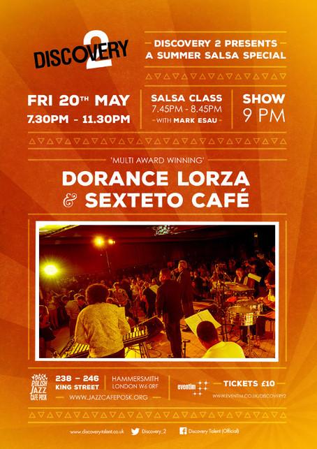 Fri 20th May: Summer Salsa Special Ft Dorance Lorza & Sexteto Café