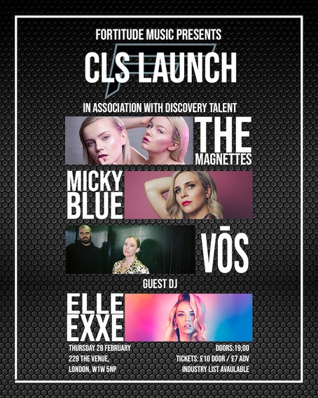 Thur 28th Feb 2019: Fortitude Music - CLS Launch