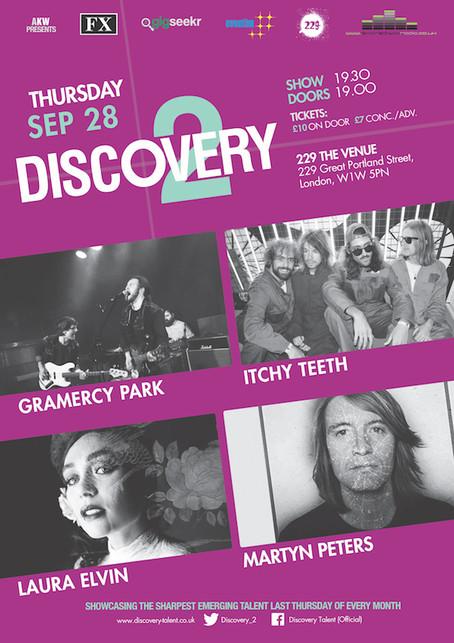 Thur 28th Sep 2018: Gramercy Park, Itchy Teeth , Laura Elvin + Martyn Peters