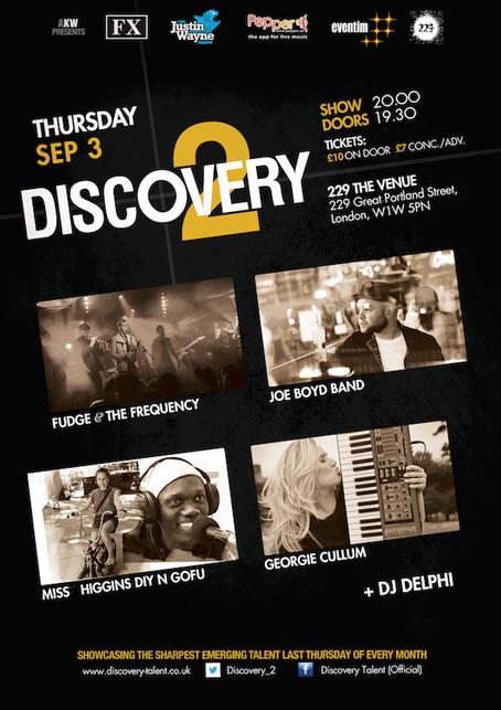 Fudge & The Frequency, Joe Boyd Band, Miss Higgins DIY n Gofu, Georgie Cullum: Thur 3rd Sep 2015