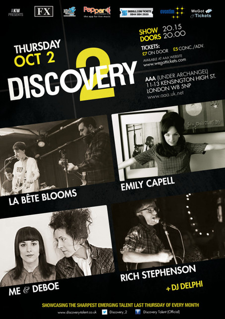 Emily Capell + Le Bete Blooms + Me & Deboe + Rich Stephenson - Oct 2nd 2014