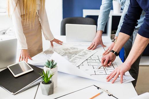 close-up-architects-drawing-plan-bluepri