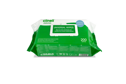 Universal Wipes - Pack of 200. EN14476 Approved Against Coronaviruses