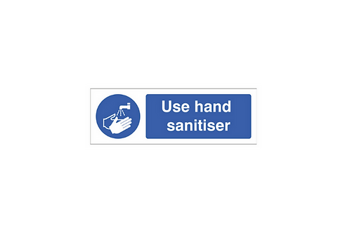 Wall Sign- 'Use Hand Sanitiser'- Plastic, 30 x 10cm