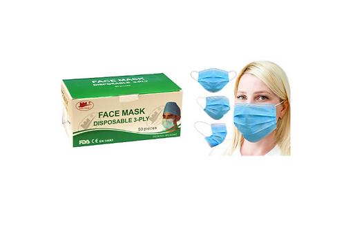 Type IIR Fluid Resistant Face Mask
