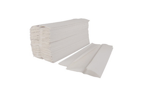 C-Fold White Paper Hand Towel - 2 Ply (Box of 2400)