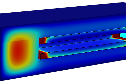 Finite Element Predictions of Temperature Transients in Thermal Barriers