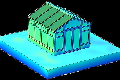 Modelling Heat Transfer inside a Full Conservatory Installation
