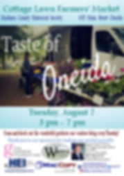 Taste of Oneida August 7.png