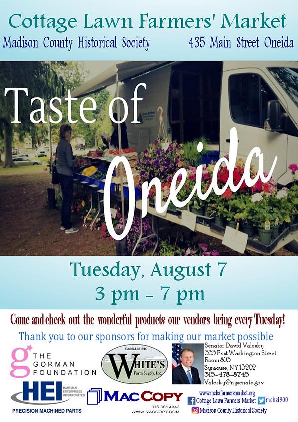 Taste of Oneida August 7.png