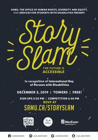 SAMU Story Slam Poster